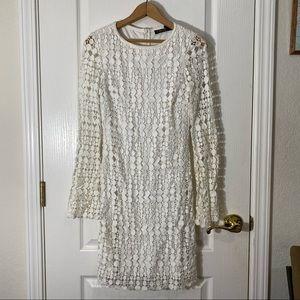 Ralph Lauren white detailed spring dress